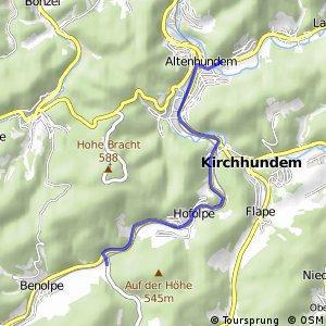 RSW (OE-36) Kirchhundem-Abzweig Welschen Ennest - (OE-37) Lennestadt-Altenhundem