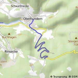 RSW (OE-32) Kirchhundem-Abzw. Sauerland Wildpark - (OE-33) Kirchhundem-Oberhundem