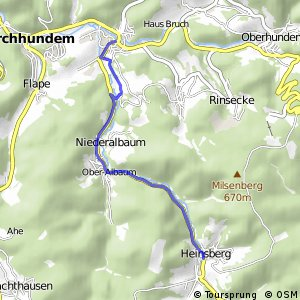 RSW (OE-31) Kirchhundem-Heinsberg - (OE-34) Kirchhundem-Würdinghausen