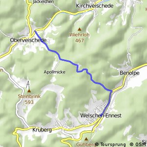 RSW (OE-29) Kirchhundem-Welschen Ennest - (OE-42) Olpe-Oberveischede