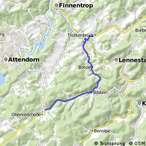 RSW (OE-41) Lennestadt-Trockenbrück - (OE-42) Olpe-Oberveischede