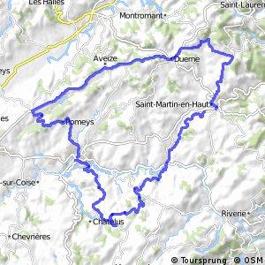 Boucle cyclotouristique Le tour des Hauts du Lyonnais