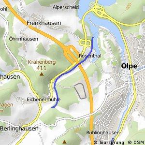 RSW (OE-12) Olpe-Rosenthal - (OE-13) Drolshagen-Eichenermühle