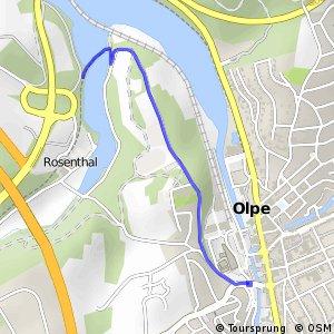 RSW (OE-09) Olpe-Stadtzentrum - (OE-12) Olpe-Rosenthal