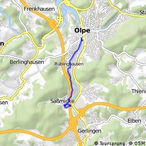 RSW (OE-07) Olpe-Saßmicke - (OE-09) Olpe-Stadtzentrum