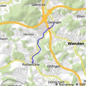RSW (OE-05) Wenden-Rothemühle - (OE-06) Wenden-Gerlingen