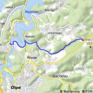 RSW (OE-17) Olpe-Eichhagen - (OE-18) Olpe-Neger Abzweig Rother Stein