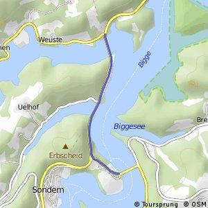 RSW (OE-21) Attendorn-Schnütgenhof - (OE-27) Olpe-Sonderner Kopf