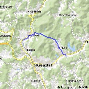 RSW (SI-51) Kreuztal-Krombach - (SI-53) Hilchenbach-Dahlbruch