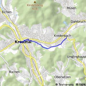 RSW (SI-49) Kreuztal - (SI-52) Kreuztal-Kredenbach