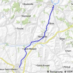 liaison Barbezieux-Saint-Hilaire - Châteauneuf-sur-Charente
