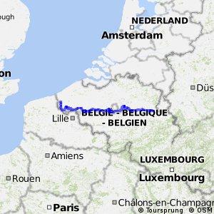 LF6 Vlaanderen Fietsroute