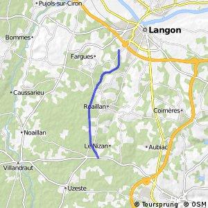 Le Nizan -<-> langon