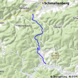 RSW (SI-03) Bad Berleburg–Aue - (HSK-52) Schmallenberg-Fleckenberg