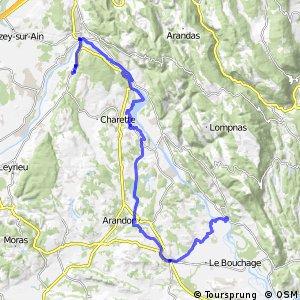Via Rhôna - Groslée > La Balme