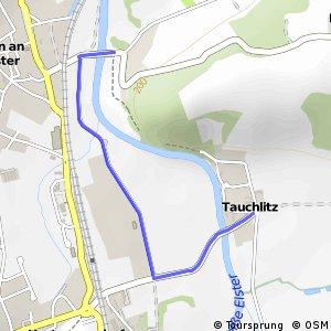 Elster-Radroute (Umleitung Crossen)