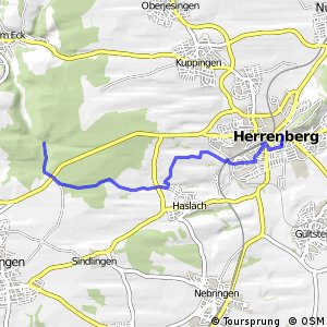 Deutsche Fachwerkstraße Abschnitt Herrenberg-Calw