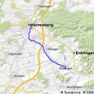 Deutsche Fachwerkstraße Abschnitt Herrenberg-Pfäffingen