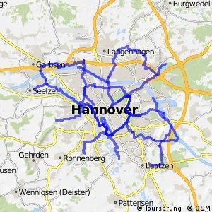 Radwegenetz Hannover
