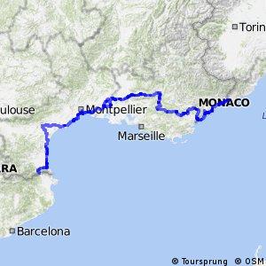La Route de la Méditerranée - Partie Française