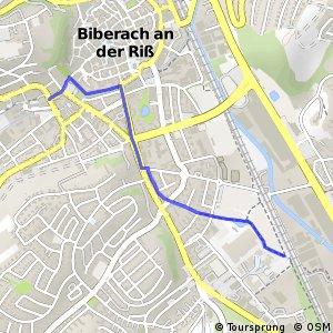 Donau-Bodensee-Radweg Querverbindung Einbahnstraße West Biberach