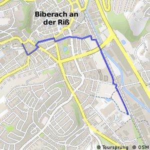 Donau-Bodensee-Radweg Querverbindung Einbahnstraße Ost Biberach