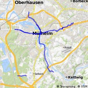 Radverkehrsnetz NRW, Stadt Mülheim an der Ruhr