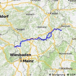 Hessischer Radfernweg R7 - Lahn-Werra-Radweg