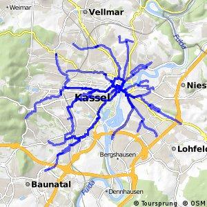 Radrouten Kassel