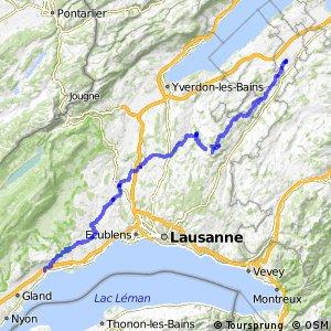 rcn 63 - Gros de Vaud-La Côte (Payerne-Rolle)